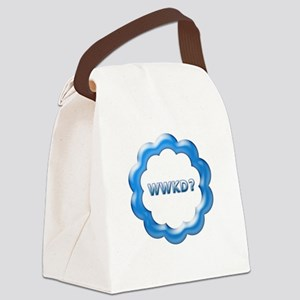 WWKD blue Canvas Lunch Bag