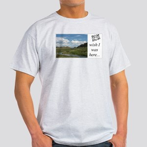 Ash Grey T-Shirt - mountain stream