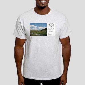 Ash Grey T-Shirt - mountain stream