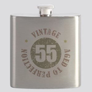 55th Vintage birthday Flask