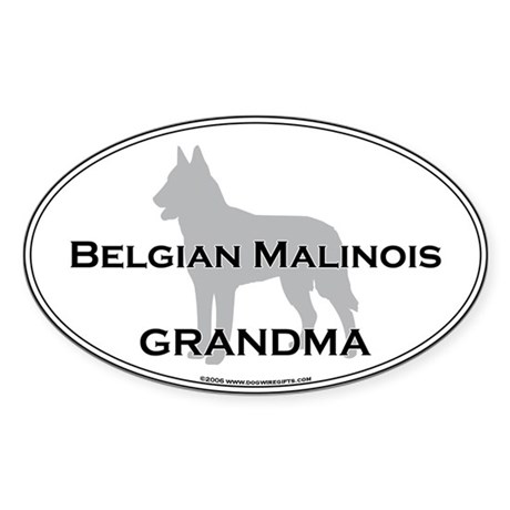 Belgian Malinois GRANDMA Oval Sticker