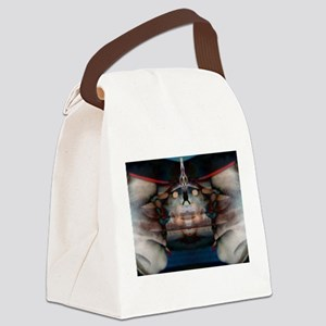face Canvas Lunch Bag