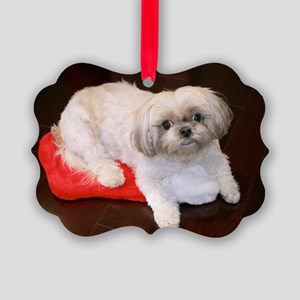 Dog Holiday Picture Ornament