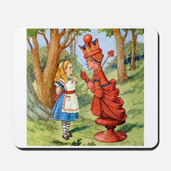 Alice Meets The Red Queen Mousepad