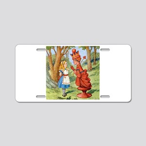Alice Meets The Red Queen Aluminum License Plate