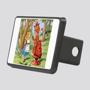 Alice Meets The Red Queen Rectangular Hitch Cover