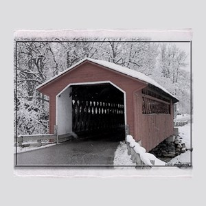 Silk Road Covered Bridge Throw Blanket
