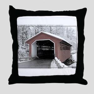 Silk Road Covered Bridge Throw Pillow