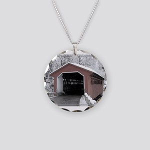 Silk Road Covered Bridge Necklace Circle Charm