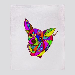 Colored Chihuahua Throw Blanket