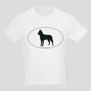 Belgian Malinois Silhouette Kids T-Shirt