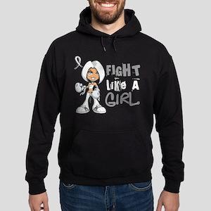 Licensed Fight Like a Girl 42.8 Bone Hoodie (dark)
