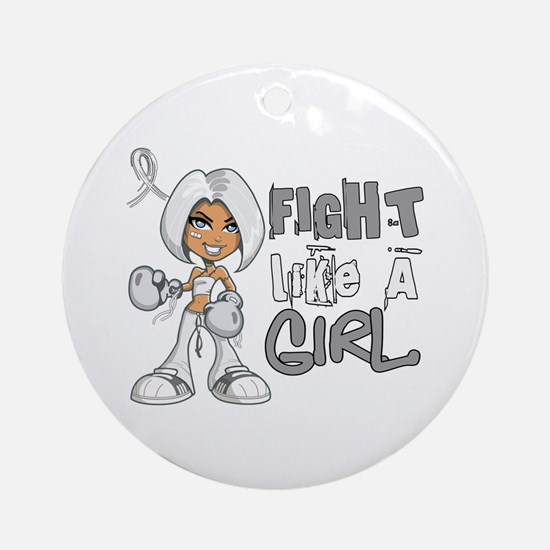 Licensed Fight Like a Girl 42.8 B Ornament (Round)