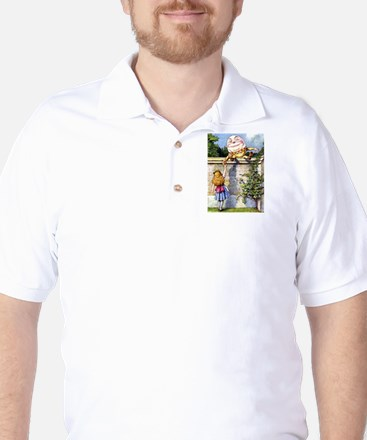 Alice and Humpty Dumpty Golf Shirt