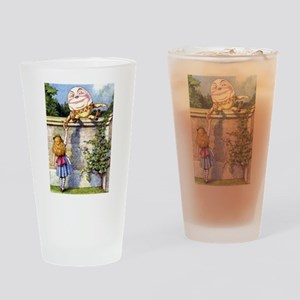 Alice and Humpty Dumpty Drinking Glass