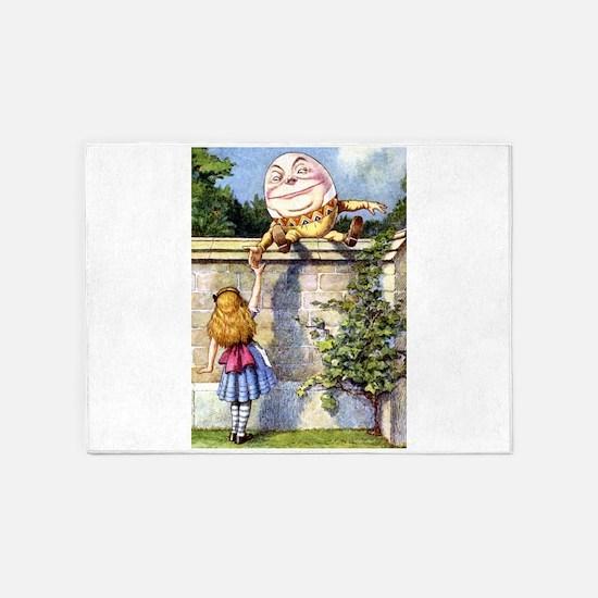 Alice and Humpty Dumpty 5'x7'Area Rug