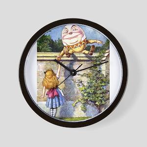 Alice and Humpty Dumpty Wall Clock