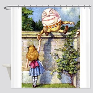 Alice and Humpty Dumpty Shower Curtain