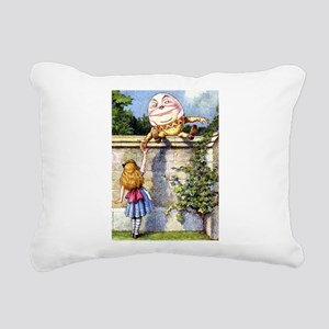 Alice and Humpty Dumpty Rectangular Canvas Pillow