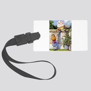 Alice and Humpty Dumpty Large Luggage Tag
