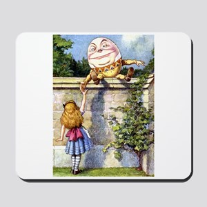 Alice and Humpty Dumpty Mousepad