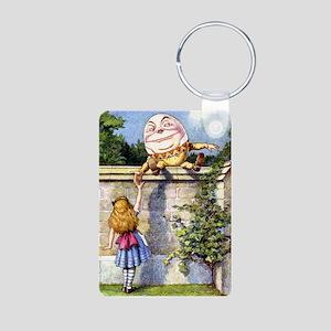Alice and Humpty Dumpty Aluminum Photo Keychain
