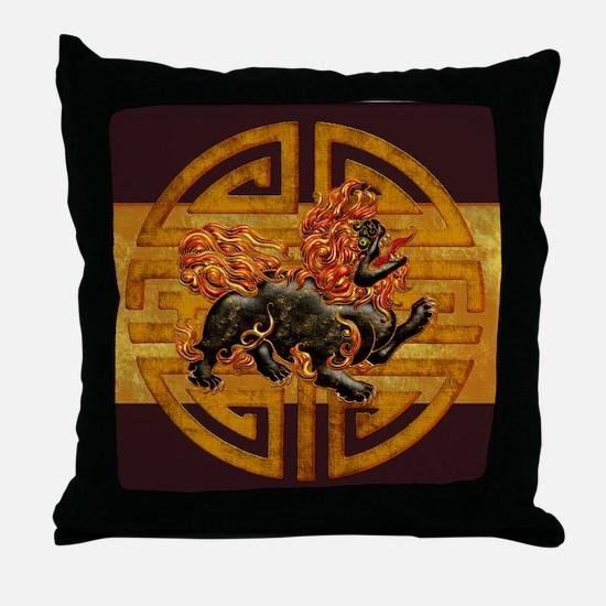 Harvest Moon Foo Dog Throw Pillow