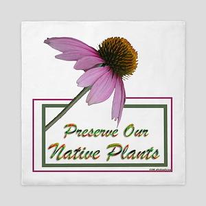 Native Plants Queen Duvet