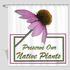 Native Plants Shower Curtain