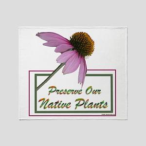 Native Plants Throw Blanket