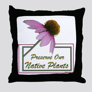 Native Plants Throw Pillow