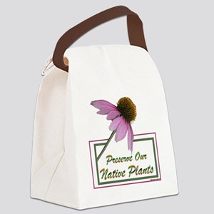 Native Plants Canvas Lunch Bag