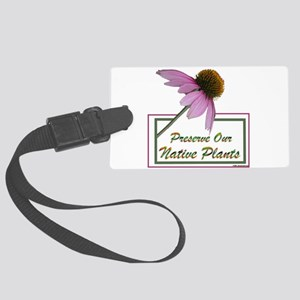 Native Plants Large Luggage Tag