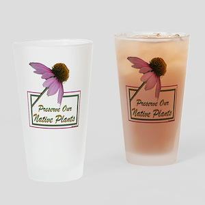 Native Plants Drinking Glass