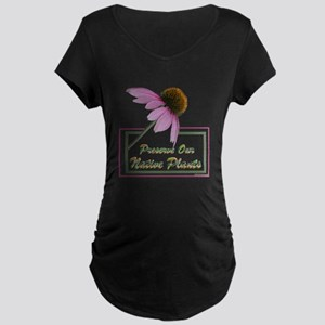 Native Plants Maternity Dark T-Shirt