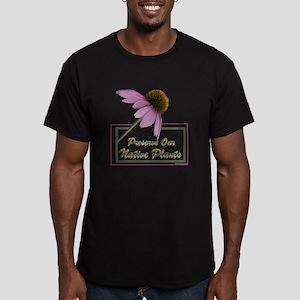 Native Plants Men's Fitted T-Shirt (dark)