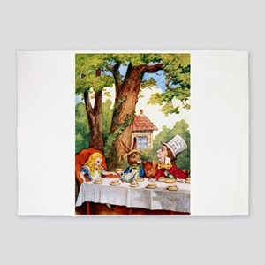 Mad Hatter's Tea Party 5'x7'Area Rug
