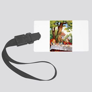 Mad Hatter's Tea Party Large Luggage Tag