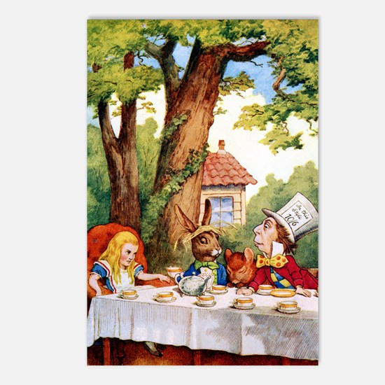 Mad Hatter's Tea Party Postcards (Package of 8)
