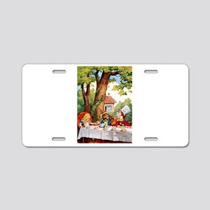 Mad Hatter's Tea Party Aluminum License Plate