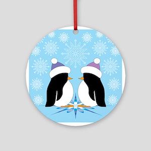 Playful Penguins Ornament (Round)