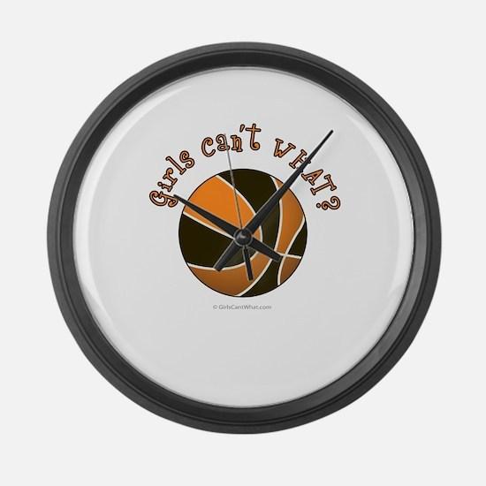 basketball-black-orange.png Large Wall Clock
