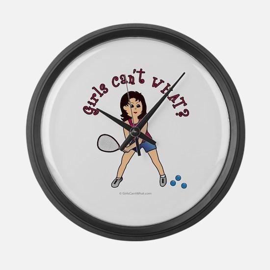 raquetball-light.png Large Wall Clock
