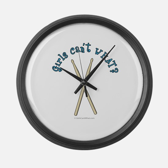 drumsticks.png Large Wall Clock