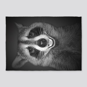 Raccoon Portrait 5'x7'Area Rug