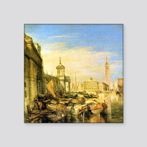 "William Turner Venice Square Sticker 3"" x 3"""