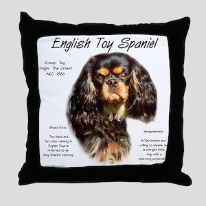 English Toy (king charles) Throw Pillow