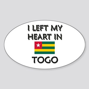 I Left My Heart In Togo Oval Sticker