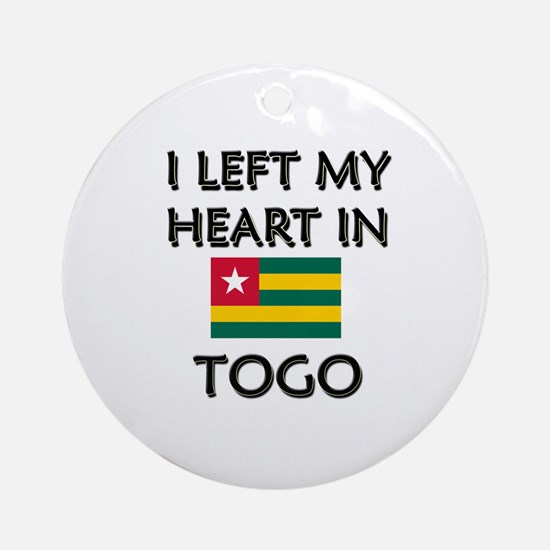 I Left My Heart In Togo Ornament (Round)