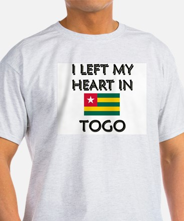 I Left My Heart In Togo Ash Grey T-Shirt